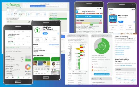 Handige apps fatsecret en voedingscentrum